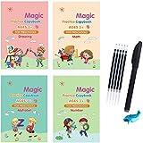 Englisches Zauberbuch für Kinder, wiederverwendbar, Übungsbuch, Übungsbuch, Kalligraphie,...