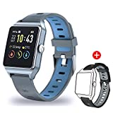 Smartwatch GPS Sportuhr, Fitness Armbanduhr 1,3 Zoll Touchscreen Laufuhr GPS Fitness Smartwatch mit...