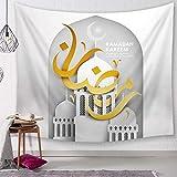 Tapisserie Hängendes Tuch Ramadan Wandteppich Muslim Ramadan Festival Wandteppich Wohnzimmer...