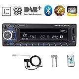 Bosszi HiFi-Klangqualität RDS/DAB/DAB + Autoradio Digital Audio Autoradio mit Bluetooth...