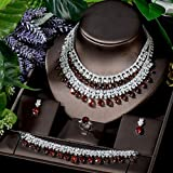 Shability Exklusive Halskette Ohrring Ring Armband Set Frauen Bridal Zubehör Geschenke CZ Hochzeit...