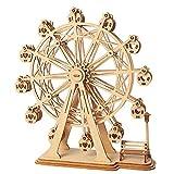 W&HH 3D Holzpuzzle, DIY 3D Laserschneiden Holz Riesenrad Puzzle Spiel, Geschenk Für Kinder Kinder,...