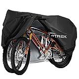toptrek Fahrradabdeckung für 2 Fahrräder Wasserdicht 210T Oxford Hochwertige Fahrradgarage...