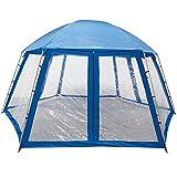 Miganeo Premium-Pavillion 600x520x280 cm zb. für Pool Zelt Metall Partyzelt Gartenpavillion...