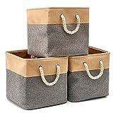 EZOWare Faltbare Aufbewahrungsbox in Würfel Lagerung Korb Schrank Würfel Aufbewahrungskörbe mit...