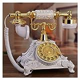 Retro Wandtelefon Antikes Festnetztelefon Klassische Retro Weißer Vintage Feste Schreibtisch...