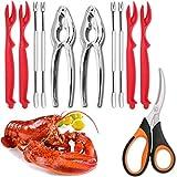 11-teiliges Meeresfrüchte-Werkzeug-Set enthält 2 Krabben-Knallbonbons, 4 Hummer-Sheller, 4...
