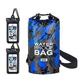 flintronic Dry Bag, 30L Wasserdicht Taschen mit Schnalle, (Camouflage) wasserdichte Packsäcke...