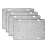 Tebery 4 Stck Edelstahl-Grillrost & Auskhlgitter, passt auf Backbleche fr das Backen von Keksen und...