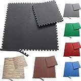 Sporttrend 24 - Schutzmatten und Randstücke Set 4-72teilig schwarz und weitere Farben 60x60x1cm und...