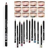 LATTCURE 12 Farben Eyeliner Set , Eyeliner Pen, Wasserfest Kajalstift bunt Lidstrich Augen Kosmetik...