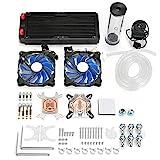 YLiansong-office Computer Case Fan PC Wasserkhlung Kit 240mm Radiator Pumpenbehlter CPU-Block Starre...