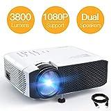 Beamer APEMAN Mini Beamer 3800 Lumen 1080P Full HD Unterstützt Aktualisierte Tragbar Projektor LED...