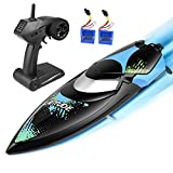 kuman Ferngesteuerte Boote,Upgrade Waterproof Remote Control Boat for Pools and Lakes 25km/h High...