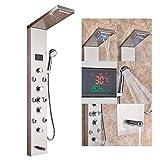 Rozin LED Dusche Turm Wasserhahn mit Temperatur Bildschirm Niederschlag Wasserfall Duschkopf...