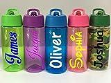 Come Buy With Me Personalisierbare Kinder-Wasserflasche mit Klapp-Strohhalm – Fitnessstudio, jeder...