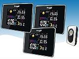 froggit Funk Farb Wetterstation WS50 Triple (3 Displays) inkl. 1 Funk Thermo-Hygrometer...