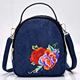 CHEORLIANEmbroidered Bag Canvas Embroidery Pouch Chinese Style Peony Portable Diagonal Shoulder Bag...