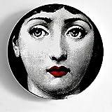 JKFJY Fornasetti Teller, faltbar, 25,4 cm, Weihnachtsdekoration, Essteller, Dekoration, Wandteller,...