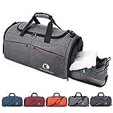 CANWAY Faltbare Sporttasche Faltbare Reisetasche mit dem schmutzigen Fach und Schuhfach...