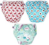PINK & BLUE 3-teilig Schwimmwindel Schwimmhose Baby und wiederverwendbar Badehose für Jungen und...