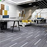 uyoyous 12er Teppichfliesen 100 x 25cm, 3m² set strapazierfähiger Büroteppich Bodenbelag Teppich...