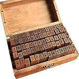 IWILCS Alphabet Stempel Set, 70 Stücke Stempel Set, Alphabet Buchstaben Briefmarken, Alphabet...