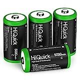 HiQuick Baby C Akku 5000mAh - 1,2V wiederaufladbare Batterien C Typ NI-MH 4 Stück
