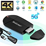 WiFi Display Dongle - 2.4G + 5G Wireless 4K HDMI Display Adapter, Mini Spiegelungsgert Untersttzung...