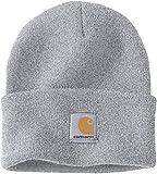 Carhartt Wintermütze für Sie und Ihn, OFA, 100% Polyacryl,elastisch, Hellgrau, Einheitsgröße
