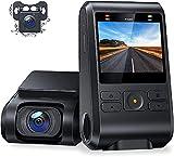 Dual Dashcam C550, Vorne und Hinten Versteckten Autokamera, 1080P FHD IPS Bildschirm, Nachtsicht,...
