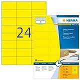 HERMA 4406 Farbige Etiketten DIN A4 (70 x 37 mm, 100 Blatt, Papier, matt) selbstklebend, bedruckbar,...