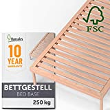 Hansales Bettgestell 120x200 cm – Futonbett 180x200 und Lattenrost mit Füßen für den Bettrahmen...