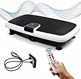 Vibrationsplatte Ultra Slim Fitnessgeräte für zuhause mit Fitnessbänder & Fernbedienung Fitness...