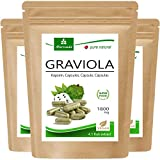 MoriVeda® Graviola Kapseln aus Fruchtextrakt 4:1   6 Monatspackung   1800mg pro Kapsel I Graviola...