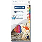 dreieckig Aquarell Bleistift Set, H/# 3, 2,9mm, 12verschiedene Farben