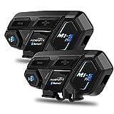 Fodsports M1S Pro Motorrad Intercom Helm Headset Gegensprechanlage Bluetooth 4,1 bis zu 8 Reiters,...