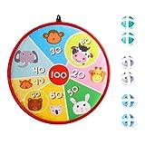 LATTCURE Kinder Klett Dartscheibe, Kinderspiel Dartscheibe mit 6 Klettbällen Fabric Dart Board...