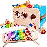 Rolimate Xylophon und Hammerspiel Spielzeug ab 1 Jahr, 3 in 1 Montessori Pdagogisches Vorschullernen...