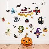 Happy Halloween Wandaufkleber Scary Pumpkin Spider Bat Zombie Ghost Hexe Möbel Hause Raumdekoration...