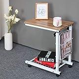 ZWJLIZI Nachttisch, Startseite Mobile Computer Desk/Schreibtisch, Multifunktions Sofa Beistelltisch...