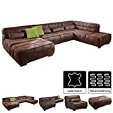 Cavadore Wohnlandschaft Scoutano, XXL-Couch in U-Form im Industrial Design, 363 x 76 x 227 cm,...