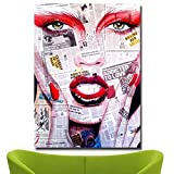 jiushice Rahmen Artist Portrait Art Cartoon Oil ng Printed on Canvas Wall Art Picture for Living...
