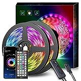 LED Strip 15m,Bluetooth LED Streifen,RGB led band 15m App-steuerung, Farbwechsel, Musik Sync