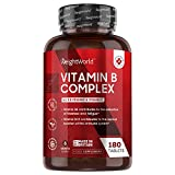 WeightWorld Vitamin B Komplex - 180 vegane Tabletten - 6 Monate Vorrat - Alle B Vitamine und Vitamin...