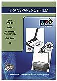 PPD DIN A4 Inkjet Transparentfolie - OHP Overheadfolie Für Tintenstrahldrucker Ohne Sensorstreifen,...