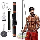 FOOING Kabelzug Fitness, Seilzug Fitness System Unterarm Handgelenk Trainer Bizeps Trainingsgerät...