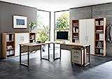 Büromöbel Arbeitszimmer Home Office komplett Set Office Edition (Set 5) in Eiche Sonoma/Weiß -...
