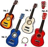 Belldessa hochwertige Kinder _ Holz Gitarre -  Konzertgitarre - Klassik - BLAU  - incl. Name -...