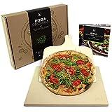 #benehacks Pizza Propria Pizzastein 1,5cm fr Backofen & Grill - 30 x 38 x 1,5 cm - Set zum Backen...